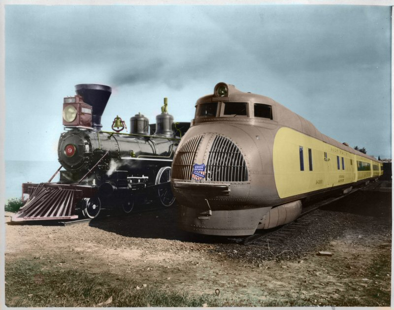 Union Pacific M-10000 and Union Pacific #9