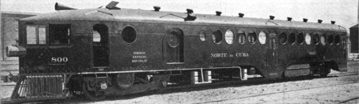 Ferrocarril Norte De Cuba McKeen Motor Car #800