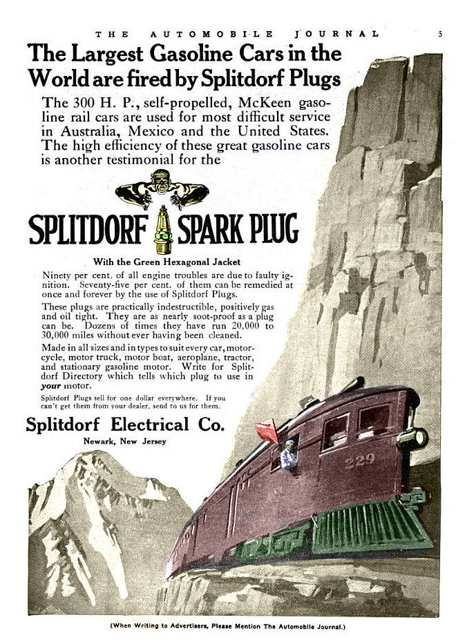 "colorized AD from ""The Automoblie Journal"" July 25, 1916"