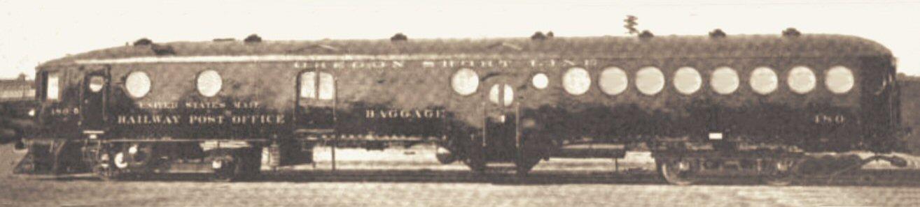McKeen Motor Car #490 of the Oregon Short Line Railroad