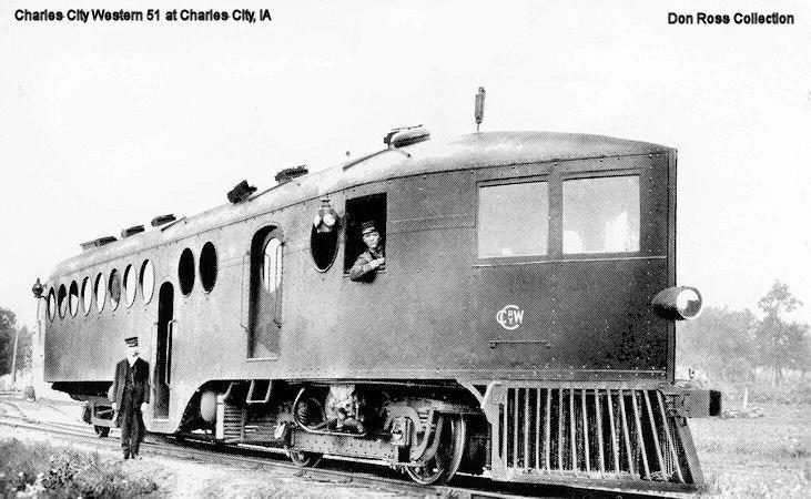 McKeen Motor Car Charles City Western Railway #51