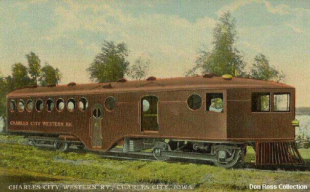 McKeen Motor Car Charles City Western #51 postcard
